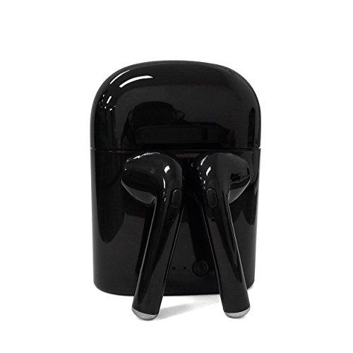 On EarKopfhörer Bluetooth,Kopfhörer Bluetooth Box, Bluetooth-Kopfhörer,Bluetooth in Ear kopfhörer für Apple iPhone 7/7 Plus/6S/6S Plus, iPad, Samsung, kabellos V4.2 + EDR, 1 Paar,Schwarz