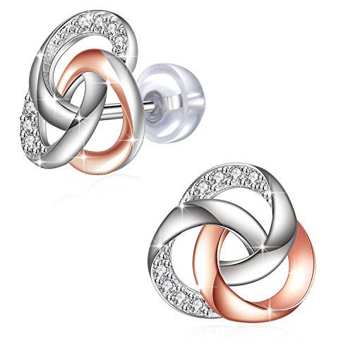 925 Sterling Silber Ohrringe Damen J. Rosee Edlen Schmuck für Frauen