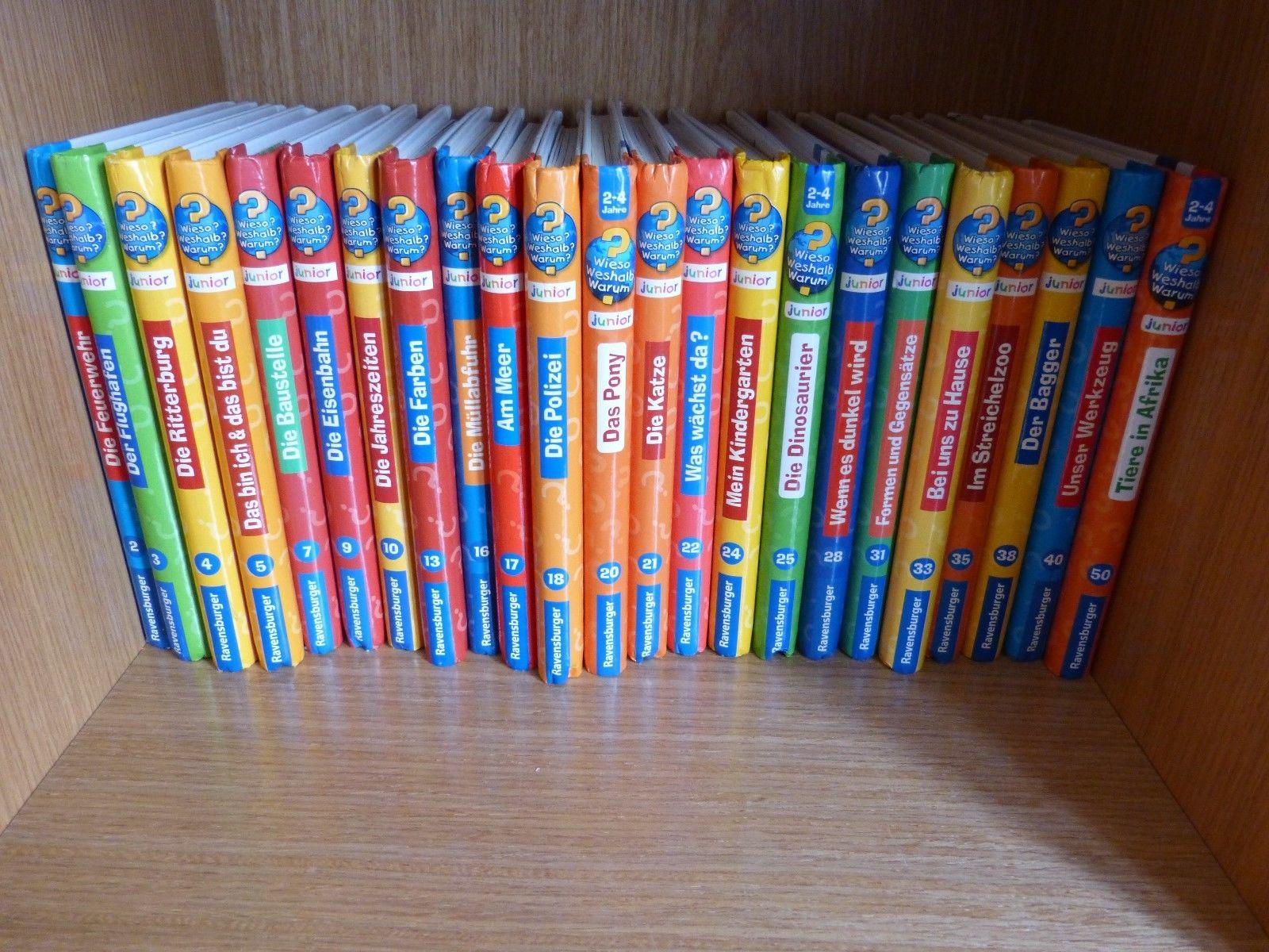 23 x Buch Wieso Weshalb Warum? Junior 2-4 Jahre Feuerwehr, Polizei, Pony, Tiere