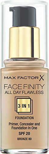 Max Factor All Day Flawless 3 in 1 Foundation 80 Bronze, 1er Pack (1x 30 ml)