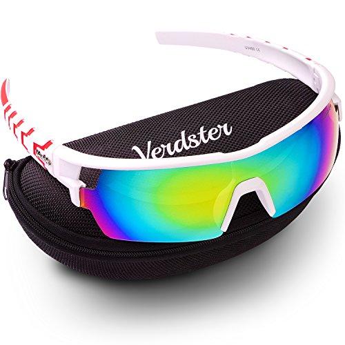 Verdster TourDePro Sonnenbrille für Männer und Frauen - Sportbrille - Sonnenbrille mit UV-Schutz - vollständiges Zubehör - ideal zum Radfahren