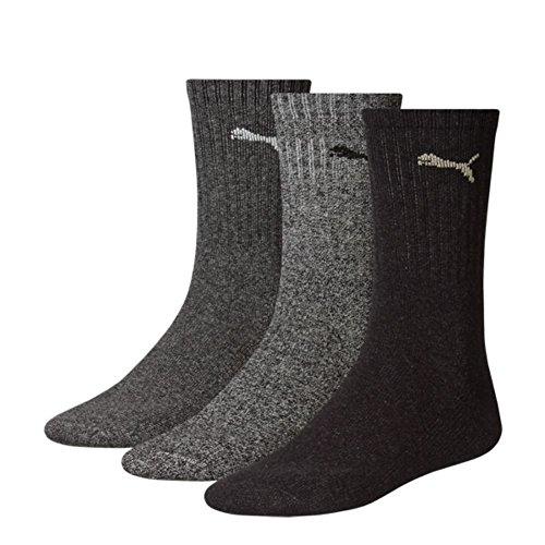 Puma Crew Socks Sport Socks 6er Pack = 6 Paar, Anthracite/Grey, 39/42
