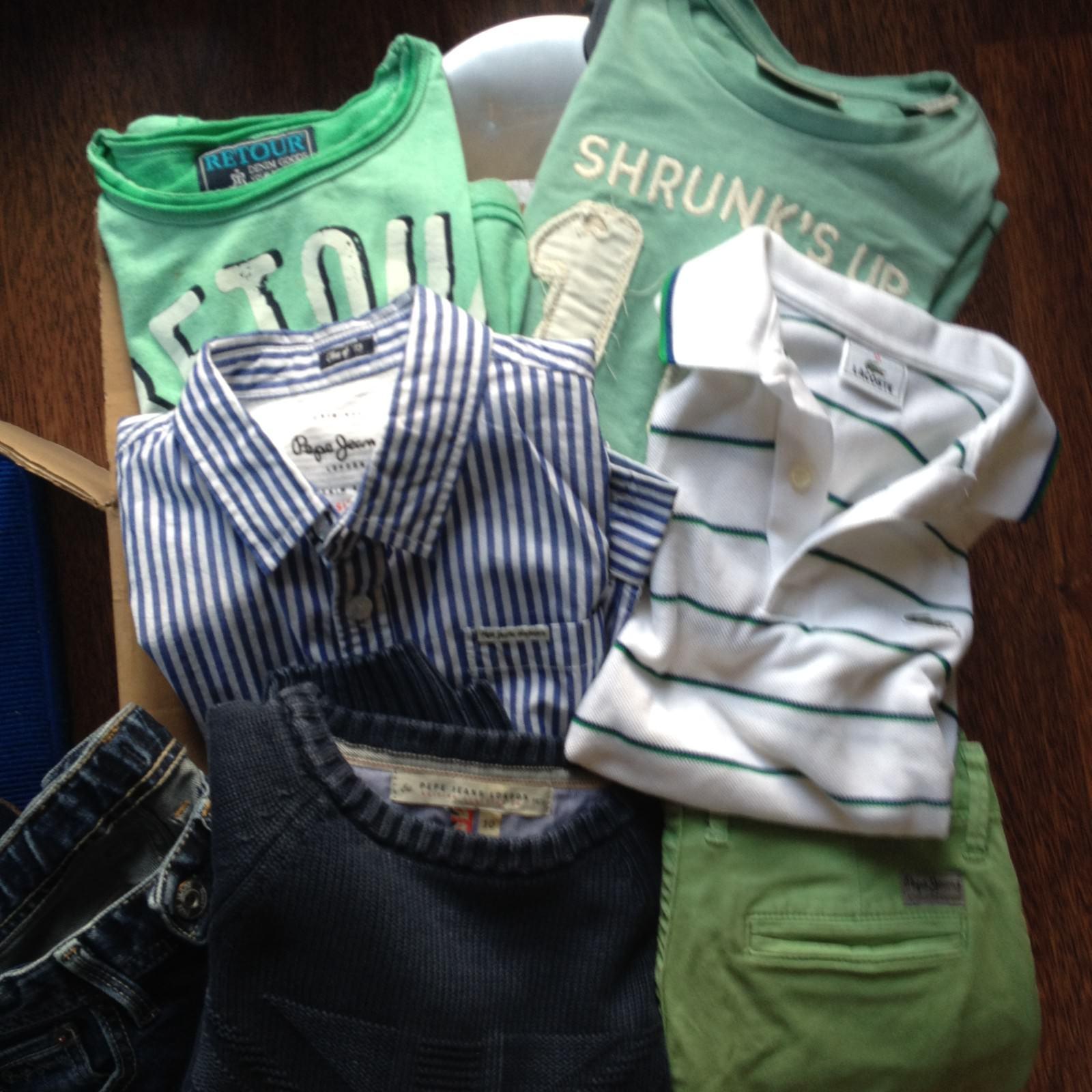 Jungen Kleidung Pepe Jeans, Lacoste, Retour, Scotch Shrunk (Größe 140 – 8 J)