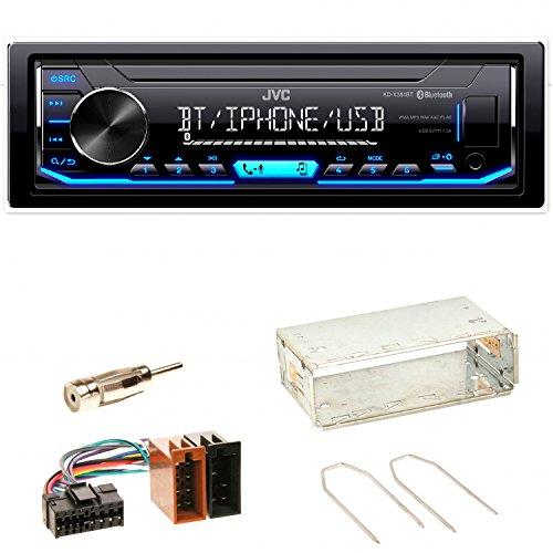 JVC KD-X351BT FLAC Autoradio USB AUX 1-DIN AOA WMA MP3 Einbauset für Renault Clio 1 2 Twingo