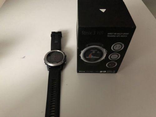 Garmin Fenix 3 HR Schwarz-Silber GPS Multisport OVP Smartwatch