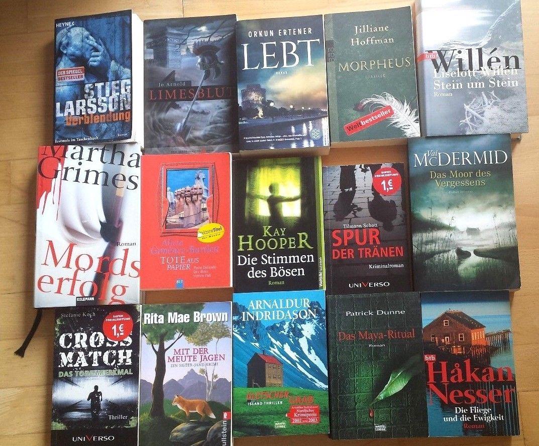 Bücherpaket Krimis & Thriller - 15 Bücher