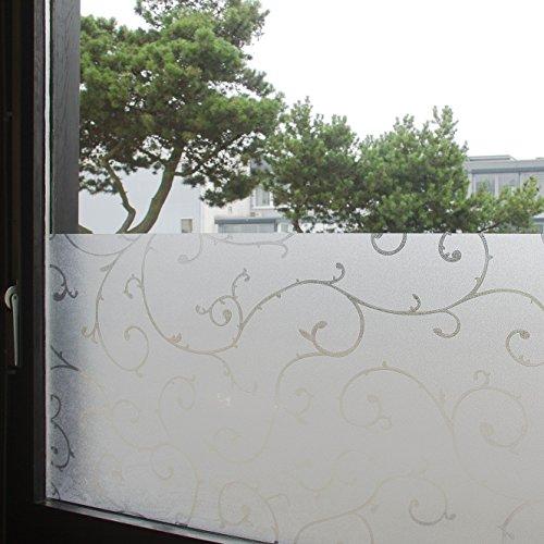 Tamia-Living Statische Fensterfolie 90% UV-Sonnenschutz Selbsthaftende Sichtschutzfolie Glasdekor
