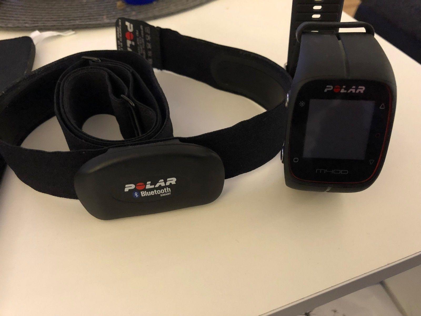 POLAR M400 - GPS Laufuhr - Trainingscomputer - Schwarz - mit Brustgurt NEUWERTIG