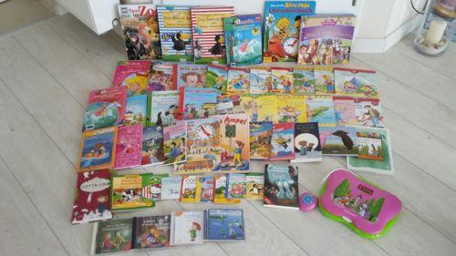 Mega Bücherpaket  für Kinder 46 Bücher,3 Hörspiele u. .1 Fillycomputer