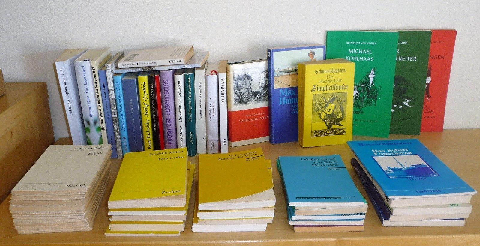 Sammlung 63 Bücher Reclam u. Andere Klassiker Weltliteratur Goethe Hesse Rilke