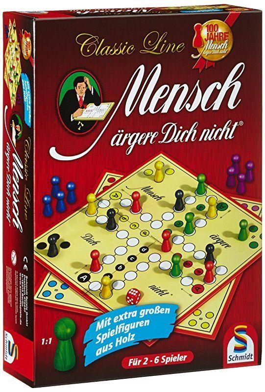 Mensch ärgere Dich nicht extragroße Figuren Schmidt Spiele 49085 Classic Line