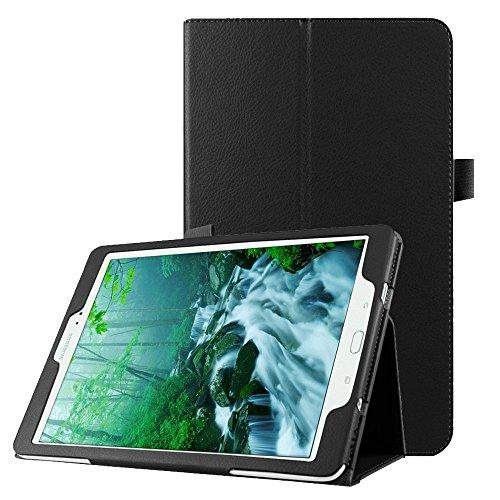 subtel® Smart Case für Samsung Galaxy Tab S2 9.7 (SM-T810 / SM-T813 / SM-T815 / SM-T819) Kunstleder Schutzhülle Tasche Flip Cover Case Etui schwarz