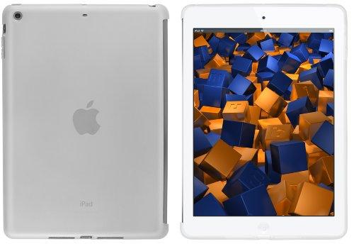 mumbi Schutzhülle für iPad Air Hülle transparent weiss (passt MIT Smart Cover)