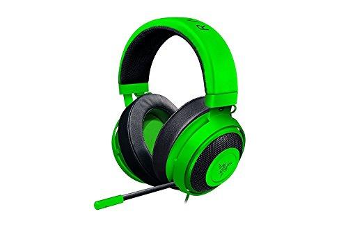 Razer Kraken Pro V2 Oval - Musik und Gaming Kopfhörer für PC und PS4 (50mm Audiotreiber, Robuster Unibody-Rahmen und Komfortable ovale Ohrpolster) grün