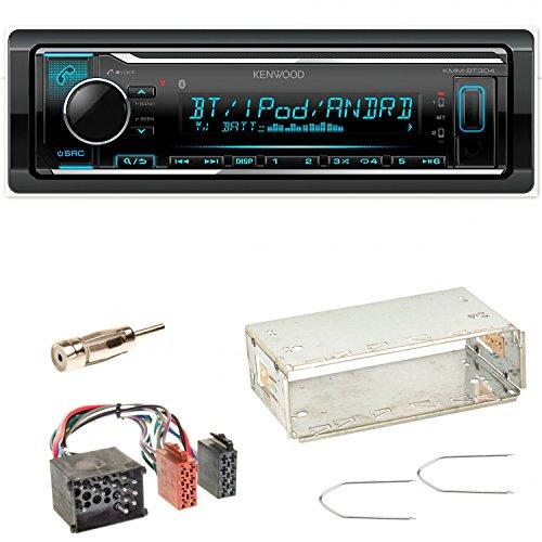 Kenwood KMM-BT304 FLAC Autoradio Bluetooth USB AUX 1-DIN AOA WMA MP3 Spotify Einbauset für BMW 3er E36 Z3