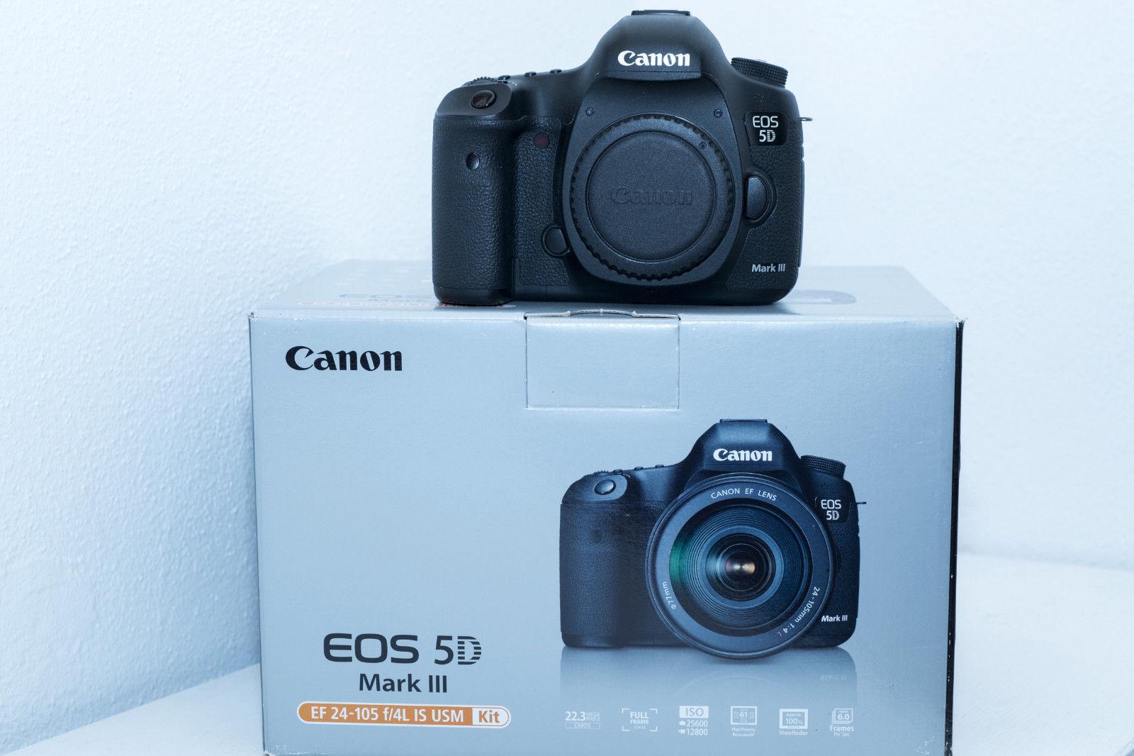 Canon EOS 5D Mark III 22.3 MP SLR-Digitalkamera (Nur Gehäuse) *Zubehörpaket* TOP