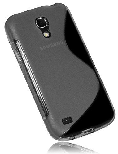 mumbi S-TPU Schutzhülle für Samsung Galaxy S4 mini Hülle transparent schwarz