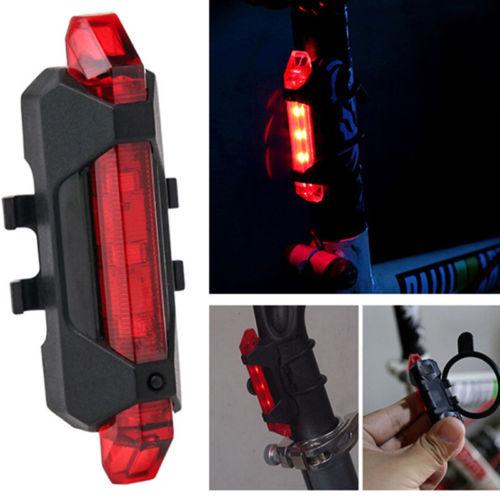 Fahrrad Rücklicht Rücklicht Fahrrad Rücklicht Warnung Blitz Licht USB Wiederaufl