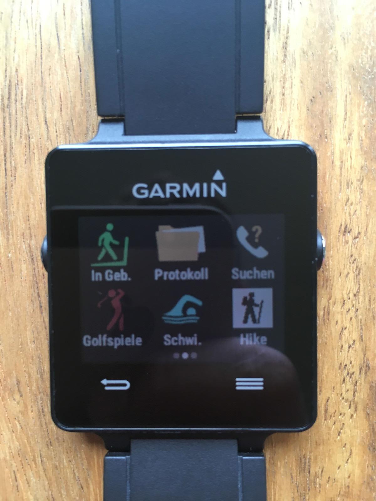 Garmin Vivoactive Sport Smartwatch mit GPS, 1 Ladegerät, Fitness Tracker Uhr