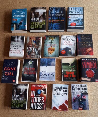 18 Bücher Paket Thriller konvolut