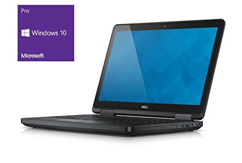 Dell E5540 Notebook | 15.6 Zoll Full HD Display | Intel Core i5-4310U @ 2,0 GHz | 8GB DDR3 RAM | 250GB SSD | DVD-Brenner | Windows 10 Pro vorinstalliert (Zertifiziert und Generalüberholt)