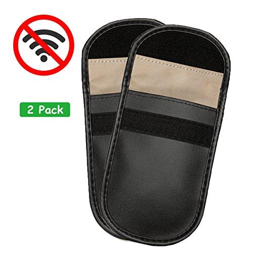 Wemk 2 Pack Autoschlüssel Signalblocker Tasche Auto Schlüsselloser Zugang Fernbedienung Schutz Tasche Signalblocker Funkblocker Tasche Diebstahlschutz