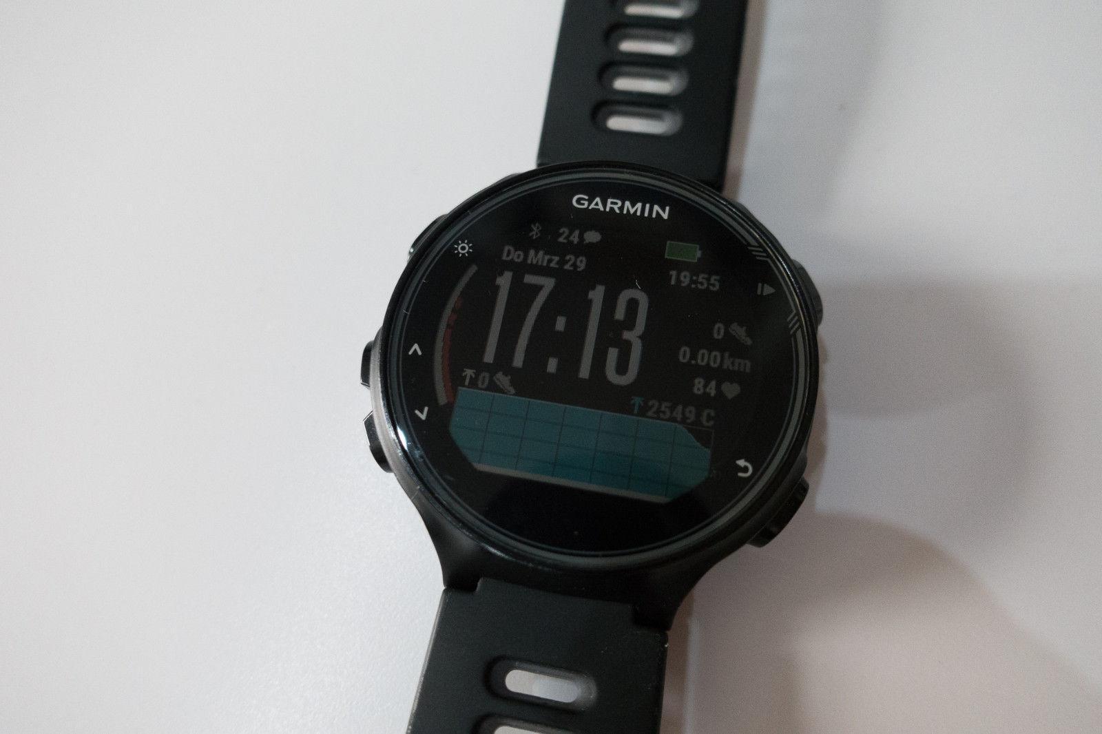 Garmin Forerunner 735XT mit Brustgurt HRM Bundle GPS Black ** TOP ZUSTAND **