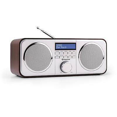 DAB+ Radio Wecker Stereo Digitalradio Display Uhr UKW Tuner Lautsprecher AUX