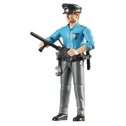 Bruder 60050 - Minifigur - bworld Polizist mit hellem Hauttyp und Zubehör