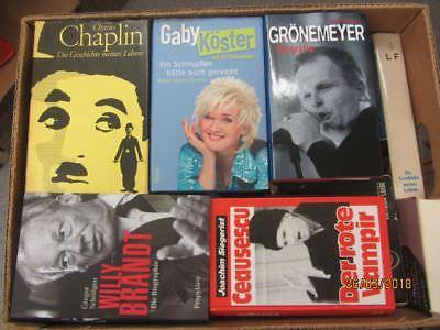 31 Bücher Biografie Biographie Memoiren Autobiografie Lebenserinnerung