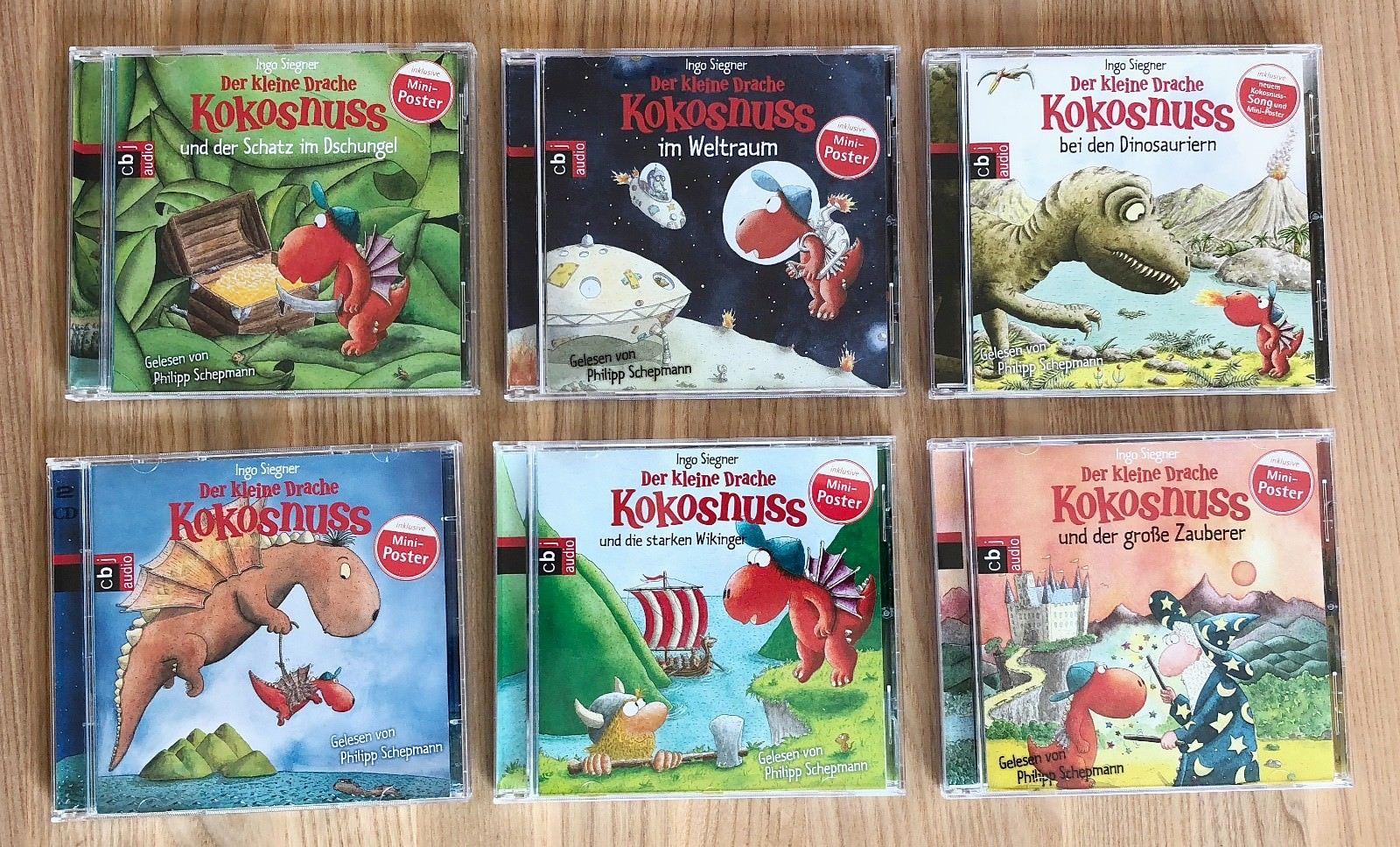 6x CD Der kleine Drache Kokosnuss - sehr guter Zustand -KINDER HÖRSPIEL SAMMLUNG
