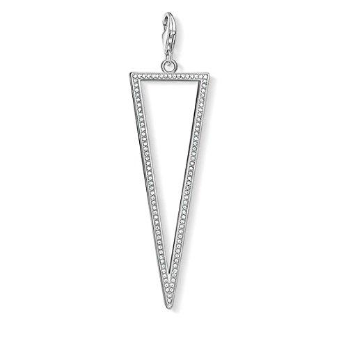 Thomas Sabo Damen Anhänger Dreieck 925 Sterling Silber Y0030-051-14