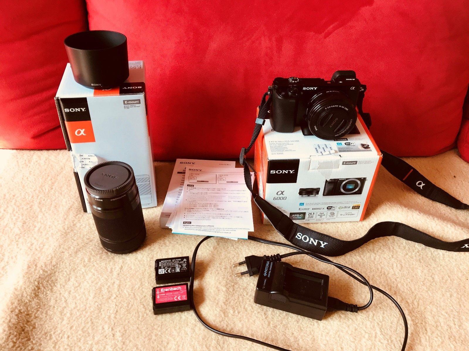 Sony Alpha ILCE-6000Y 24.3 MP Digitalkamera (Kit mit OSS 16-50mm und 55-210mm