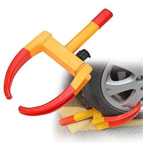 Radkralle Wohnwagen Parkkralle Anhänger Reifenkralle Sicherheitsschloss 315 mm mit 2 Schlüsseln (#1)