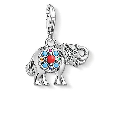 Thomas Sabo Damen Anhänger indischer Elefant 925 Sterling Silber 1668-506-7