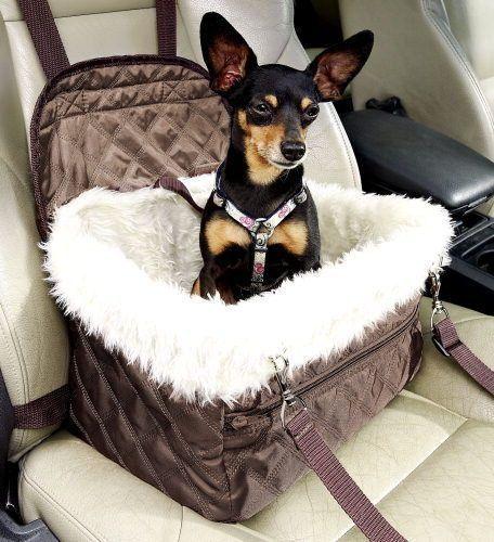 Auto Hundetasche für Autositz Plüschfutter Hunde Welpen Transport Tasche NEU