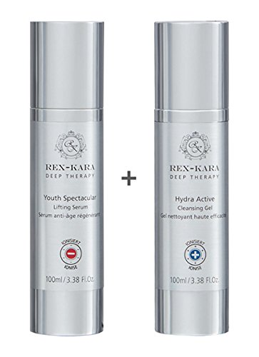 alessandro Rex-Kara Duo Set Hydra Active Cleansing Gel + Youth Spectacular Lifting Serum, 200 ml