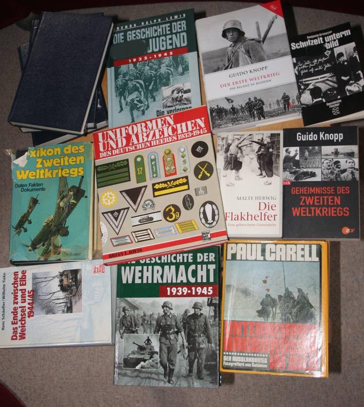 Bücherkonvolut Büchersammlung Zweiter Weltkrieg 13 Bücher sehr guter Zustand