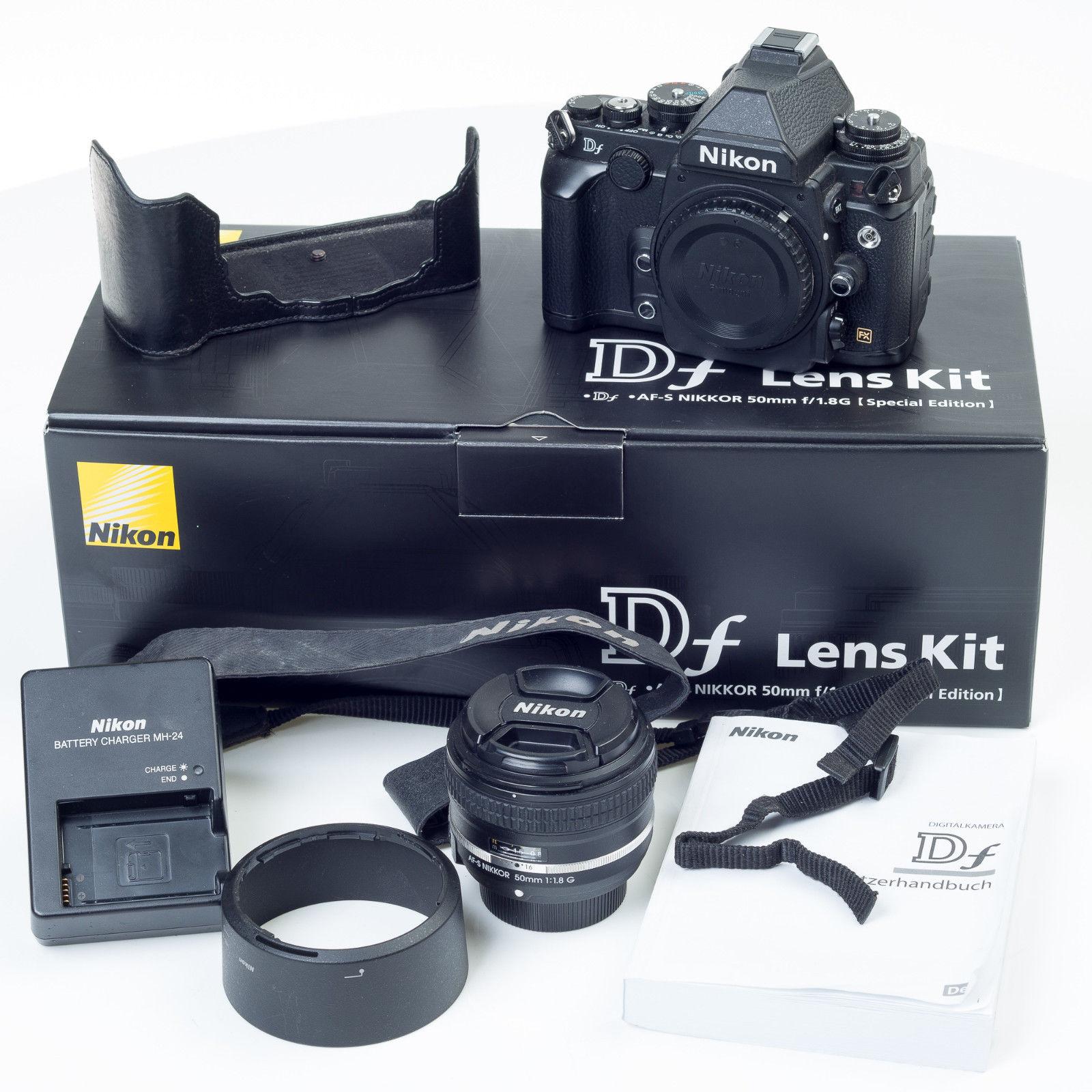 Nikon Df 16.2MP Digitalkamera - Schwarz (Kit mit AF-S 50mm) nur 3450 Auslösungen