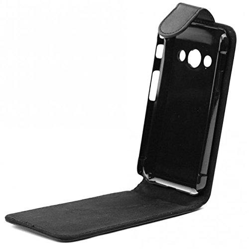 subtel® Flip Cover für Samsung Galaxy XCover 3 (SM-G388) Kunstleder Tasche Smart Case Schutzhülle Etui schwarz