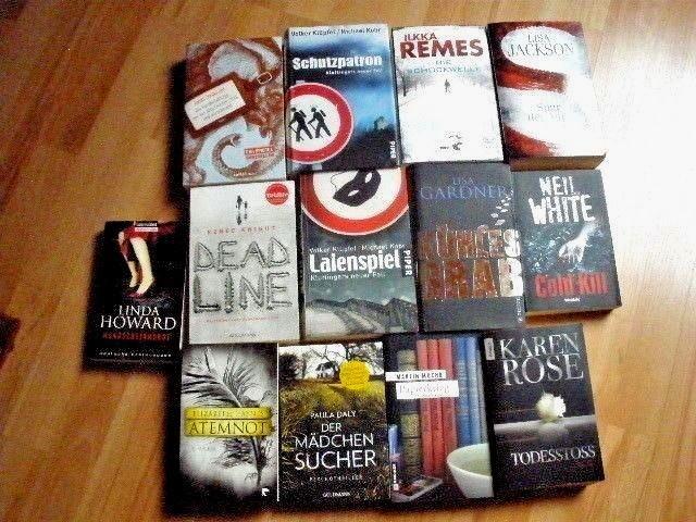 13 Stk. Krimis Thriller  Psychothriller Bücher Paket Sammlung Konvolut