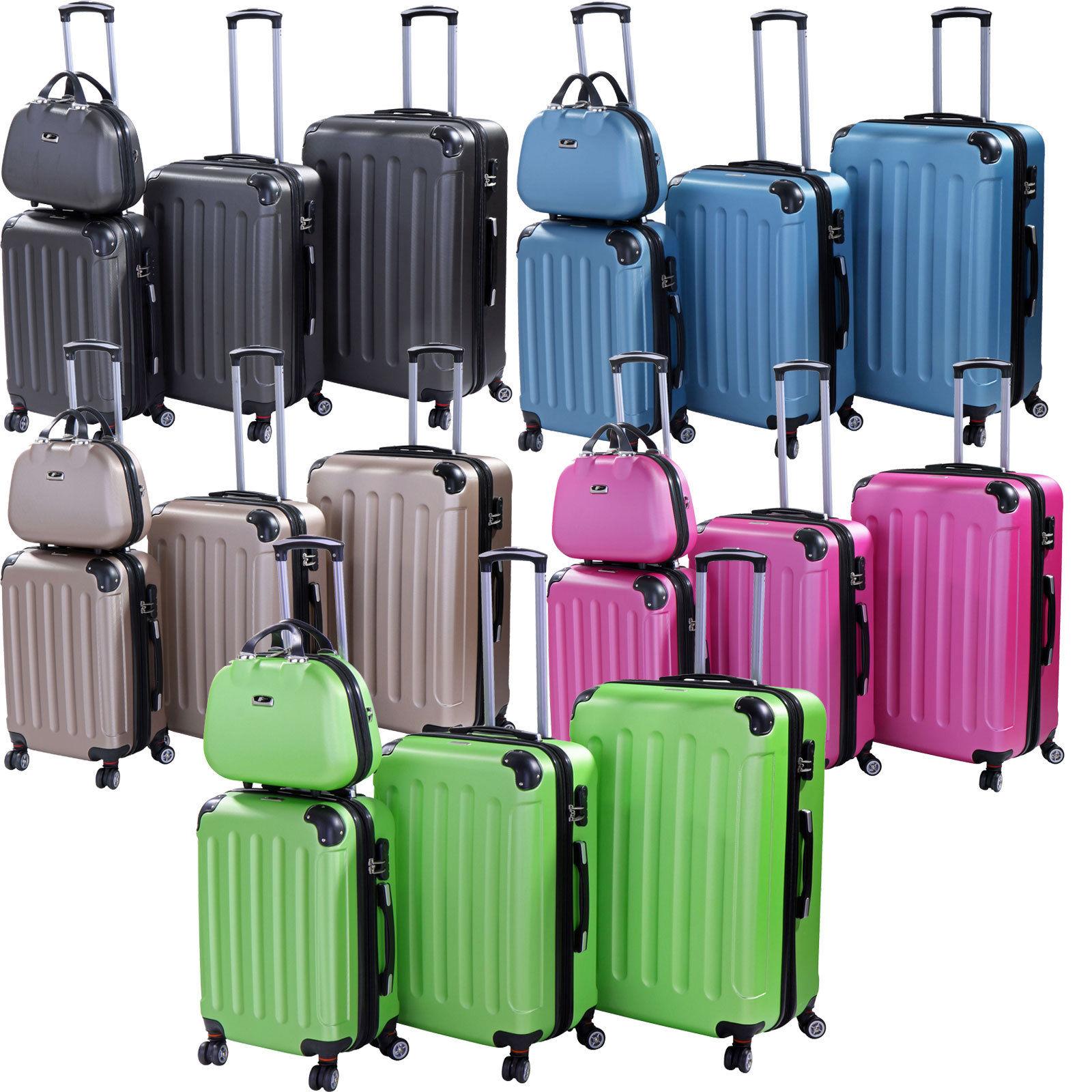 Koffer Trolley Reisekoffer Hartschalenkoffer Kofferset M-L-XL-Set Dehnungsfuge