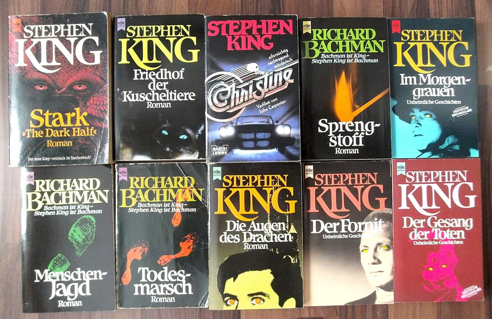 Bücher-Sammlung 10 x Stephen King: Spannung Thriller Horror TB Konvolut Paket