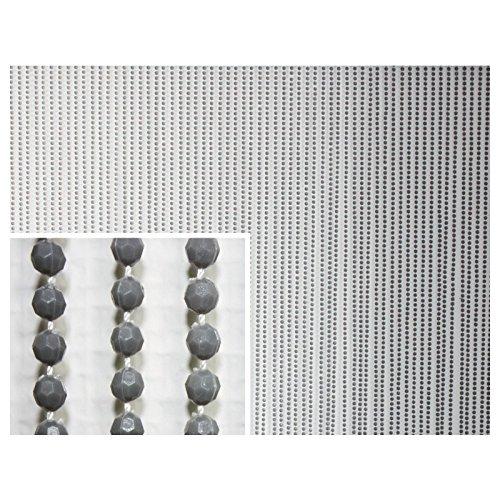 Fun Star 150120 Perlenvorhang, mit 80 Strangen, 100 x 200 cm, grau
