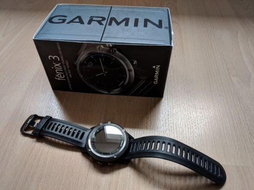 Garmin Fenix 3 Sapphire Edition - Schwarz mit Saphirglas