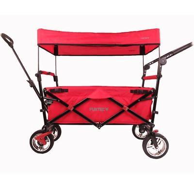 FUXTEC Bollerwagen CT-700 ROT Kinderwagen Strandwagen Gerätewagen Handwagen