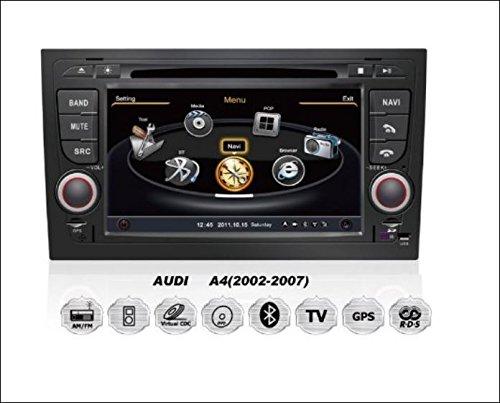 Audi A4, S4, RS4, 8E, 8F, B9, B7 Seat Exeo OEM Einbau Touchscreen Autoradio DVD Player MP3 MPE4 USB SD 3D Navigation GPS TV iPod USB MPEG2 Bluetooth Freisprecheinrichtung