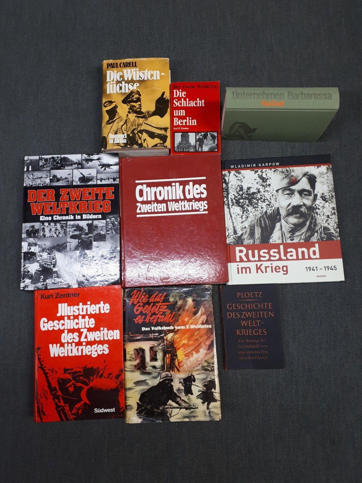 9 x Bücher über den 2. Weltkrieg,Bildbände + Raritäten dabei! AB 1 € !!!