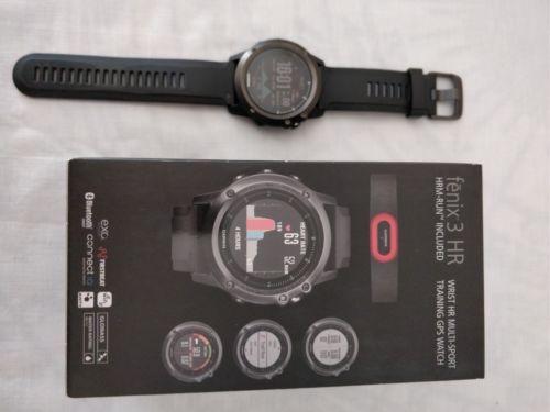 Garmin Fenix 3 HR GPS Multisport Uhr - Saphir (Sapphire)