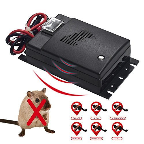 ZEBRAFI Ultrasonic Pest Repeller, Vehicle Rodent Repellent, Non Toxic, Pest Control for Rodents, Moles, Dogs, Cats, Up to 300 Ft. of Coverage, 12V (M-)